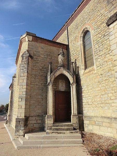 Galonnière de l'église de Niévroz.