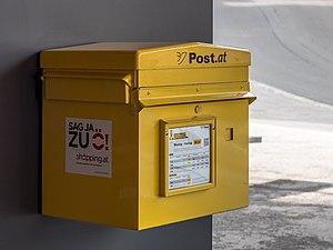 Österreichische Post - Image: Galtür Postbriefkasten 01