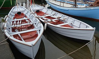 Gandelow - Traditional gandelow fishing boats at Ballydehob in Ireland, 2014