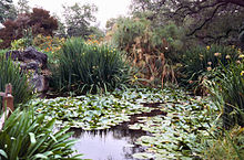 Pond View. Atop The Knoll. Queen Anne Cottage And Coach Barn. The Los  Angeles County Arboretum And Botanic Garden ...