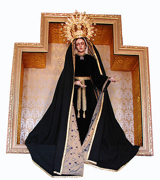 Miguel Bejarano Moreno - Statue of Our Lady of Warfhuizen, dressed for November, the month of the deceased.