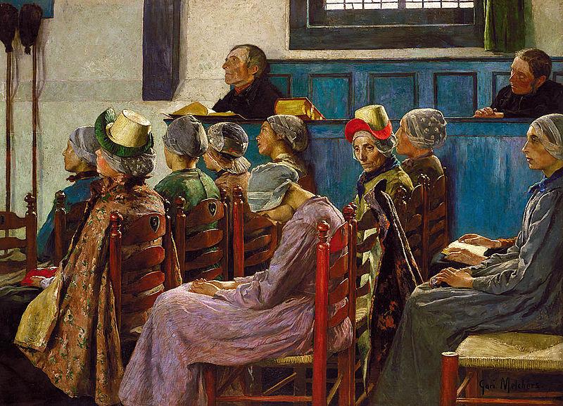 File:Gari Melchers - The Sermon (1886).jpg