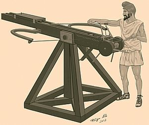 Sicilian Wars - Ancient catapult used in the siege of Motya