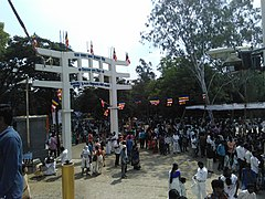 Gate of Vipassana Buddha Vihar and Aurangabad caves.jpg