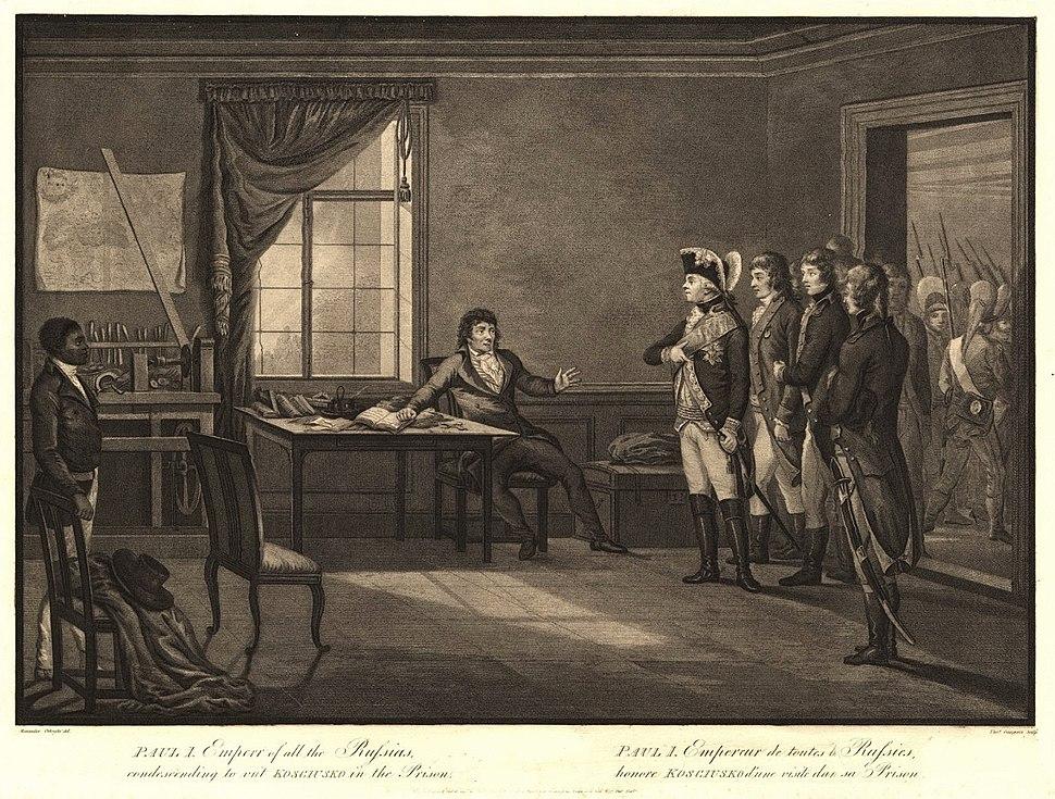 Gaugain Tsar Paul I visiting Tadeusz Kościuszko in prison