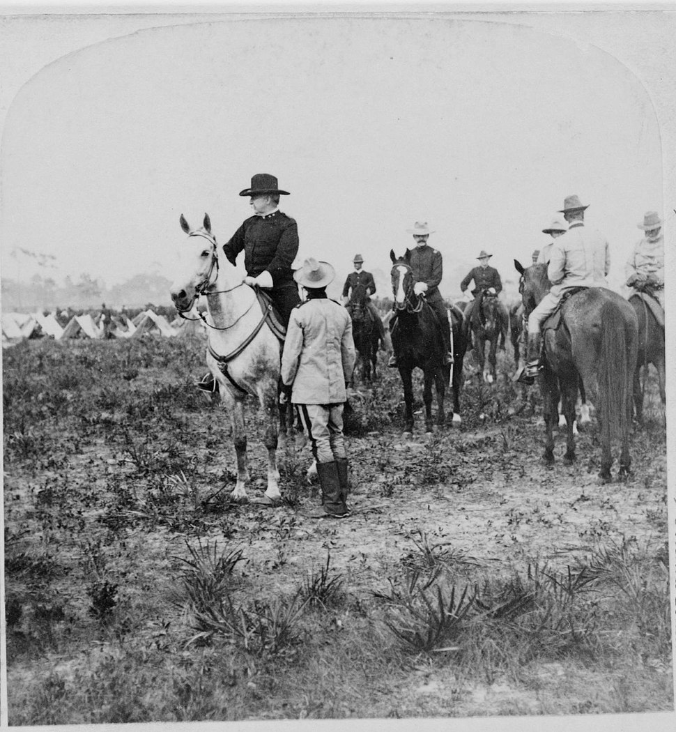 General Nelson Miles and other soldiers on horseback Puerto Rico.