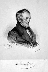 Georg Friedrich Treitschke, Lithographie von Josef Kriehuber, 1841 (Quelle: Wikimedia)