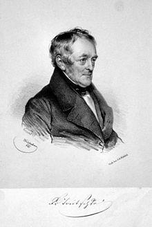 Georg Friedrich Treitschke, Lithographie von Josef Kriehuber , 1841
