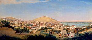 Port of San Francisco - San Francisco in 1849.