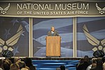 George W. Bush speaks to an audience at the National Museum of the U.S. Air Force.jpg