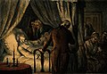 George Washington on his deathbed. Coloured wood engraving. Wellcome V0006904.jpg