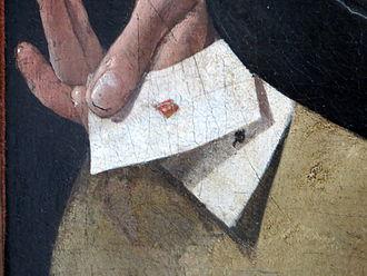 The Card Sharp with the Ace of Diamonds - Détail des as du tricheur