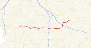 Georgia State Route 96 - Image: Georgia state route 96 map