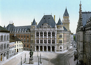 Landgericht Bremen - The Bremen Courthouse in 1900
