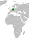 Lage von Deutschland und Benin