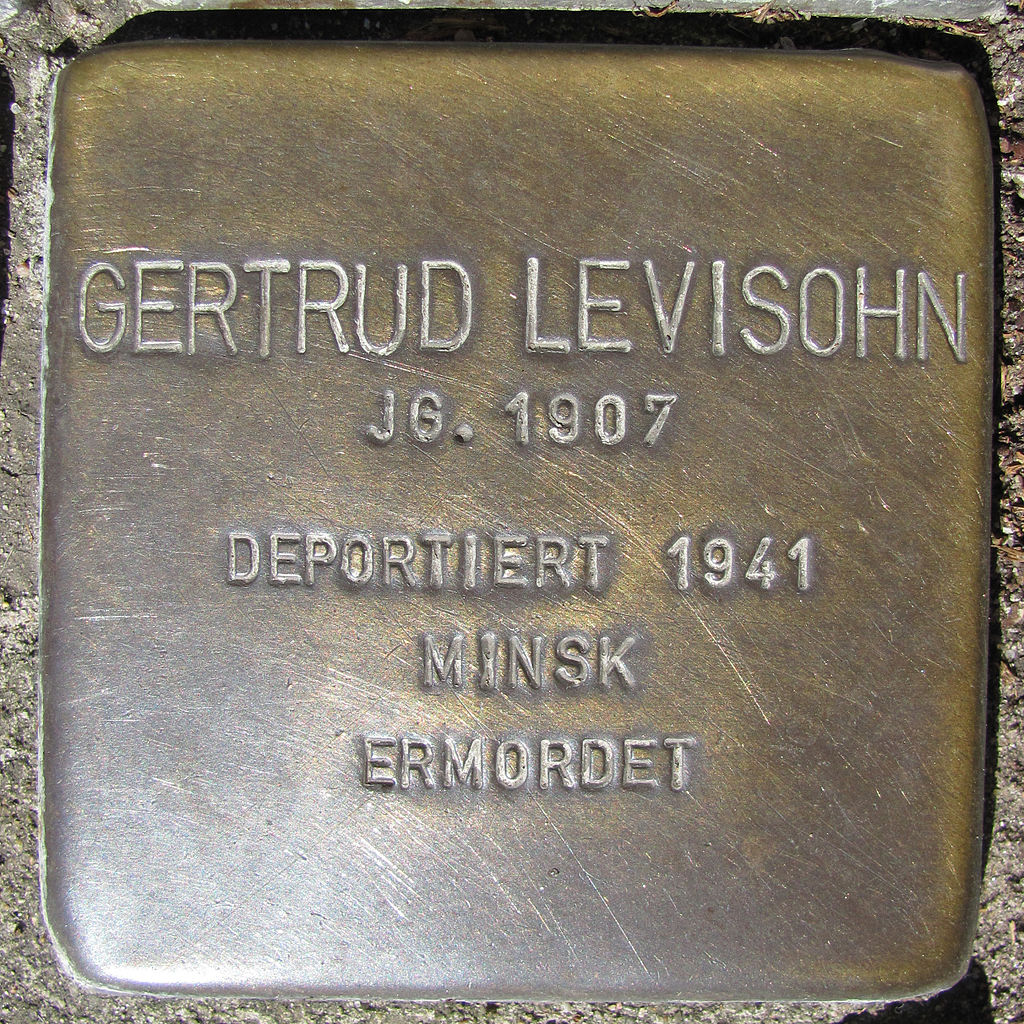 Gertrud Levisohn - Wandsbeker Königstraße 38 (Hamburg-Wandsbek).Stolperstein.nnw.jpg
