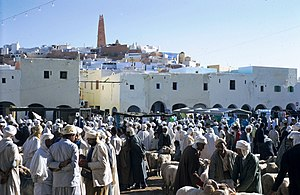 Ghardaïa - Market on the main square of Ghardaïa (1970)