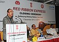 """Ghulam Nabi Azad addressing at the concluding function of the Red Ribbon Express (RRE) train of the year long RRE project, on the occasion of the """"World AIDS Day"""", in New Delhi on December 01, 2010.jpg"""