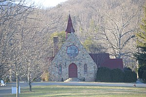 National Register of Historic Places listings in Greene County, Virginia - Image: Gibson Memorial Chapel at BRS