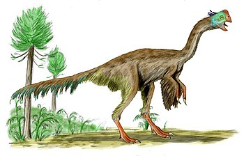 Gigantoraptor BW.jpg