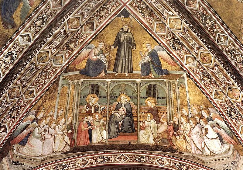 Giotto, Lower Church Assisi, Franciscan Allegories-Obedience 01.jpg