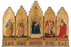 Giotto. Polyptych. 1330-35. 91x340cm. Pinacoteca, Bologna..jpg