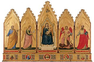 Polyptych with saints and angels