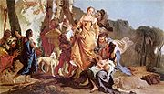 The finding of Moses, by Giovanni Battista Tiepolo