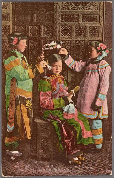 File:Girls dressed in traditional attire (NYPL Hades-2359300-4043656).jpg