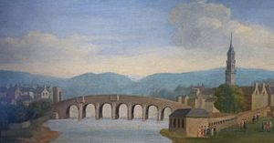 Daniel Defoe - Glasgow Bridge as Defoe might have seen it in the 18th century