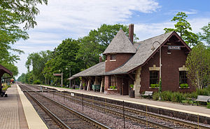 Glencoe, Illinois - Glencoe Metra Station in 2012