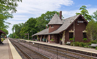 Glencoe, Illinois - Glencoe Metra Station in 2012