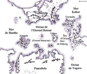 Glorantha - Map of Glorantha by Christophe Dang Ngoc Chan
