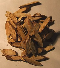 Various liqourice root slivers