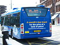 Go North East bus 5258 Scania CN230 Omnicity NK56 KJN Cobalt Clipper livery in Newcastle 9 May 2009 pic 2.jpg