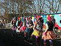 Gog Magog Molly on Mill Road Bridge - geograph.org.uk - 1606738.jpg