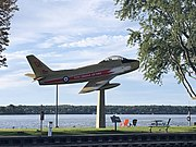 Golden Hawks Canadair Sabre 23649 On Display in Brockville, Ontario, Canada.jpg