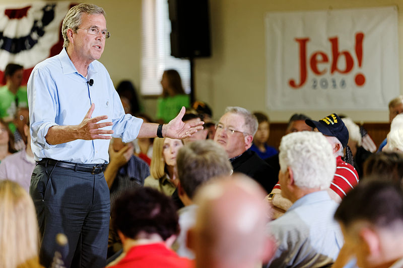 Governor of Florida Jeb Bush at VFW in Hudson, New Hampshire, July 8th, 2015 by Michael Vadon a 03.jpg