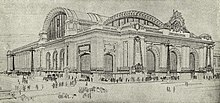 Sketch of a large Beaux-Arts building
