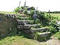 Granite stile on the path to Gurnard's Head - geograph.org.uk - 1390139.jpg