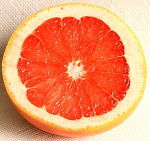 Flavonoid - A variety of flavonoids are found in citrus fruits, including grapefruit.