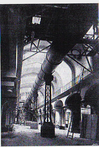 Great Paris Exhibition Telescope of 1900 - The instrument in place