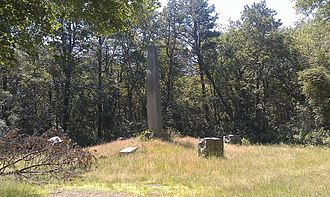 Great Swamp Fight - The Great Swamp Fight Monument located in the Great Swamp State Management Area, West Kingston, Rhode Island