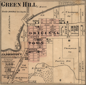 Green Hill, Indiana - Map from 1877 atlas