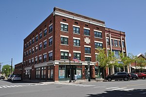 Benson's New Block and the Mohawk Chambers - Image: Greenfield MA Bensons And Mohawk Blocks