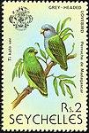 Grey-headed lovebird 1979 stamp of Seychelles.jpg