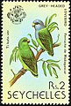 Grey-headed lovebird 1979 stamp of Seychelles.jpg