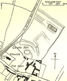 Groby Castle plan