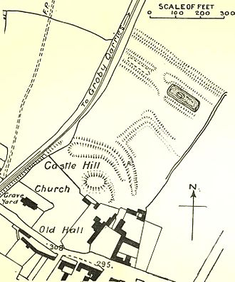 Groby Castle - Image: Groby Castle plan