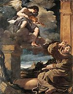 Guercino - St Francis with an Angel Playing Violin - WGA10943.jpg